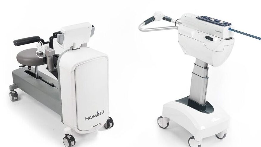 The Memic Hominis surgical robotic system.