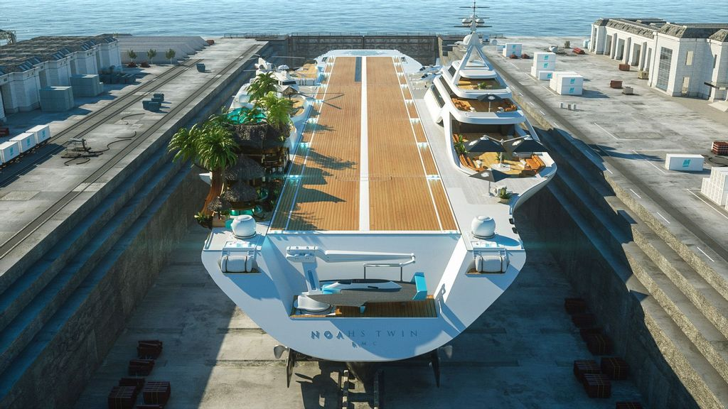 Yacht-Top: Shipbuilders Want To Turn Retired Navy Aircraft Carrier Into A Luxury Yacht