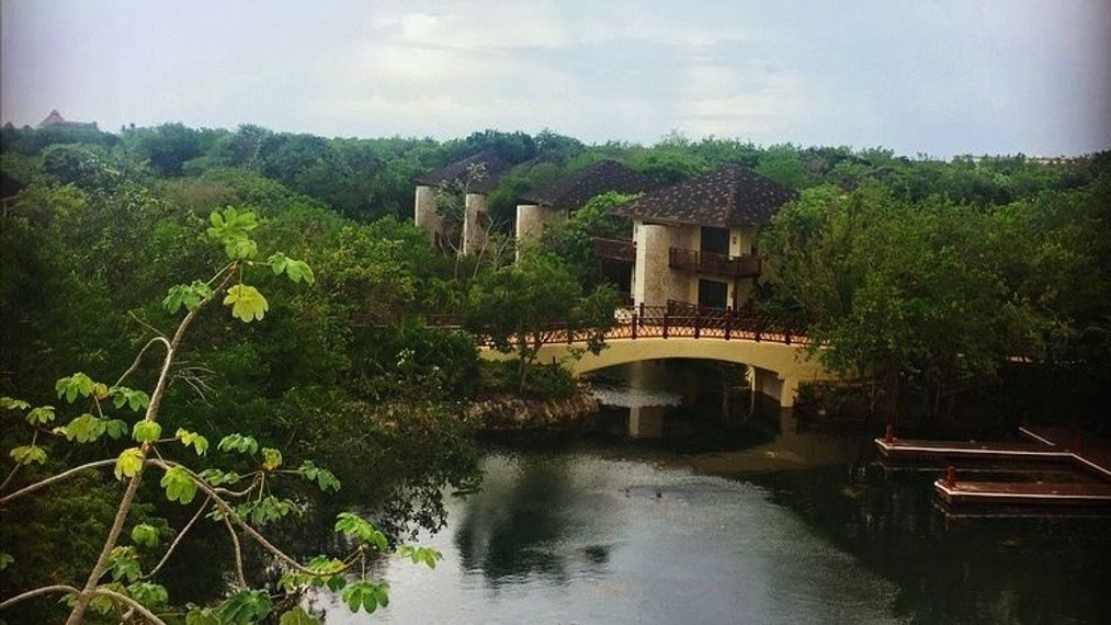 strongThe view from the Fairmont Mayakoba Hotel, in the Rivera Maya, in Cancun, Quintana Roo. The resort complex will serve as the location for the ILTM trade event in order to relaunch luxury tourism in the area after lockdowns brought by COVID-19. (Jimena Rivera/Zenger)/strong