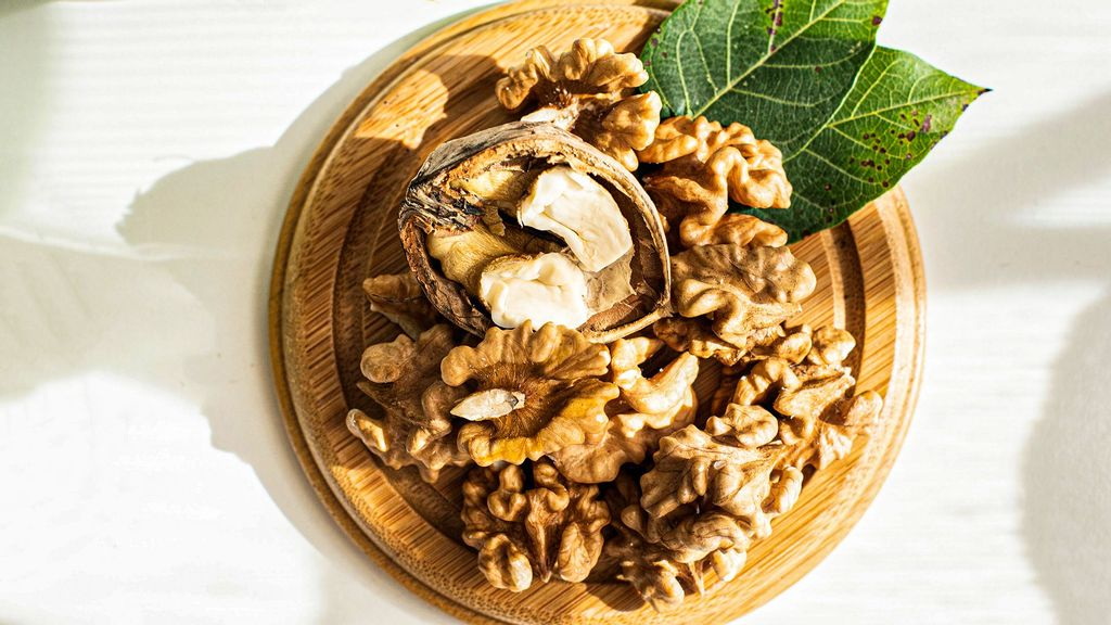 Walnuts are a rich source of omega-3 fatty acids (alpha-linolenic acid), which have been shown to have a beneficial effect on cardiovascular health. (Larisa Birta/Unsplash)